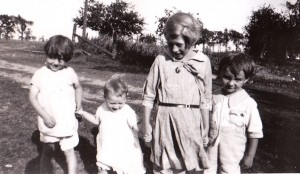 ge 4) with his cousins, Elsie, Kathleen, and Mary, Summer 1930 near Stratford, Ontario.