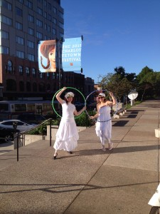The Alices lead the way to Alice Through the Looking-Glass, Charlottetown, PEI