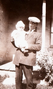 James Reaney, age 1, with his father, James Nexbitt Reaney. Photo by Elizabeth Crerar Reaney, 1927..