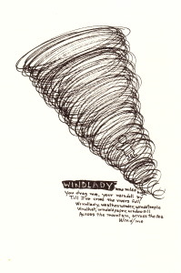 """Windlady"" by James Reaney. First published in Armadillo 2 1970."