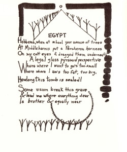 """Egypt"" by James Reaney. First published in Poetry (Chicago) 115.3, December 1969."
