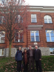 October 18, 2015 -- Susan Reaney, Susan Wallace, Thomas Gerry, and James Stewart Reaney (photo by Elizabeth Reaney)