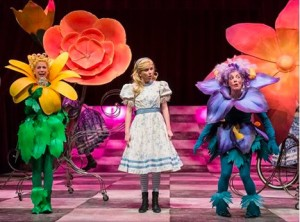 Ellie Heath as Alice in Alice Through the Looking-Glass, Edmonton Citadel Theatre, February 27 to March 20, 2016
