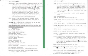 """Two pages form the draft manuscript for """"I, The Parade"""" (1981-1982) courtesy Western University Archives James Reaney Fonds AFC 18."""