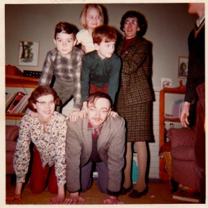 The Reaney Family at hoem in London, Ontario during the Christmas holidays December 1964.